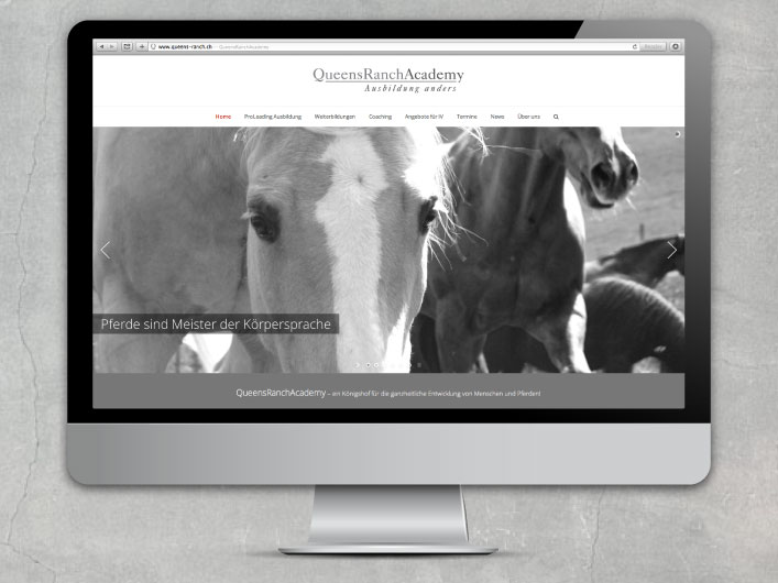 kanja web design for the queens ranch academy